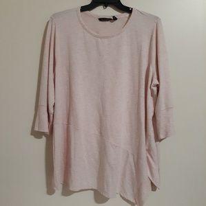 H by Halston Pink Asymmetrical Top 2X